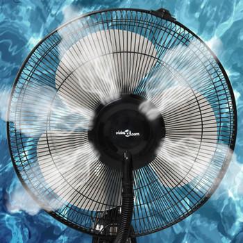 vidaXL Ventilator na postolju s maglicom 3 brzine puhanja crni