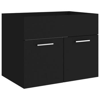 vidaXL Ormarić za umivaonik crni 60 x 38,5 x 46 cm od iverice