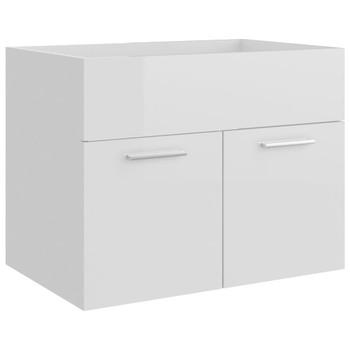 vidaXL Ormarić za umivaonik visoki sjaj bijeli 60x38,5x46 cm iverica