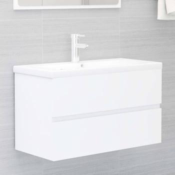vidaXL Ormarić za umivaonik bijeli 80 x 38,5 x 45 cm od iverice