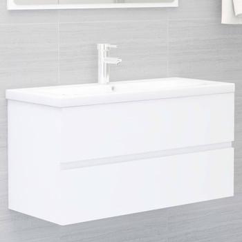 vidaXL Ormarić za umivaonik bijeli 90 x 38,5 x 45 cm od iverice