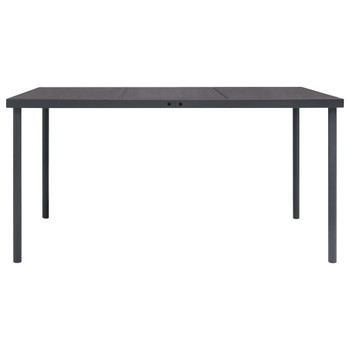vidaXL Vrtni blagovaonski stol antracit 150 x 90 x 74 cm čelični