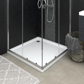 vidaXL Podloga za tuširanje s točkicama bijela 80 x 80 x 4 cm ABS