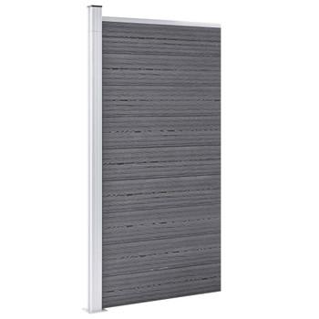 vidaXL Panel za ogradu WPC 95 x 186 cm sivi