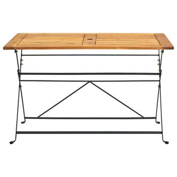 vidaXL Sklopivi vrtni stol 120 x 70 x 74 cm masivno bagremovo drvo