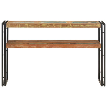 vidaXL Konzolni stol 120 x 30 x 75 cm od masivnog obnovljenog drva