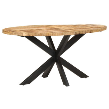 vidaXL Blagovaonski stol 160 x 90 x 75 cm od grubog drva manga