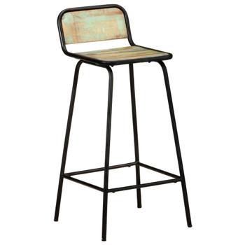 vidaXL Barske stolice 4 kom od masivnog obnovljenog drva