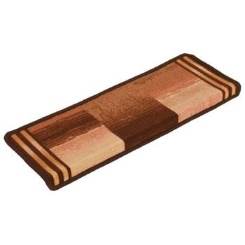 vidaXL Samoljepljivi otirači za stepenice 15 kom 65 x 25 cm smeđi