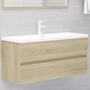 vidaXL Ormarić za umivaonik boja hrasta sonome 100x38,5x45 cm iverica