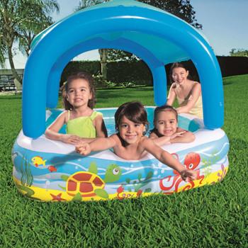Bestway dječji bazen s krovom plavi 140 x 140 x 114 cm 52192