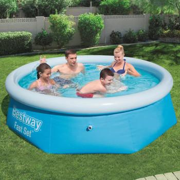 Bestway bazen na napuhavanje Fast Set okrugli 244 x 66 cm 57265