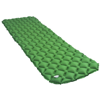 vidaXL Zračni madrac na napuhavanje 58 x 190 cm zeleni