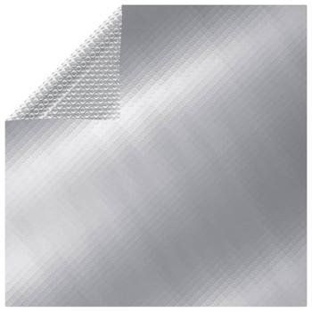 vidaXL Pokrivač za bazen srebrni 450 x 220 cm PE