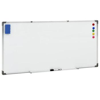 vidaXL Magnetna ploča bijela 110 x 60 cm čelična