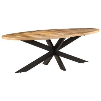 vidaXL Blagovaonski stol 240 x 100 x 75 cm od grubog drva manga
