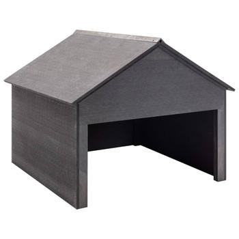 vidaXL Garaža za kosilicu siva 80 x 80 x 70 cm WPC