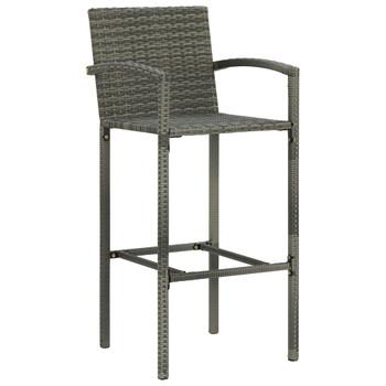 vidaXL Barski stolci od poliratana 4 kom sivi