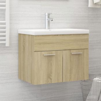 vidaXL Ormarić za umivaonik boja hrasta sonome 60x38,5x46 cm iverica