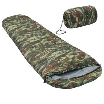 vidaXL Lagane vreće za spavanje 2 kom maskirne boje 15 ℃ 850 g