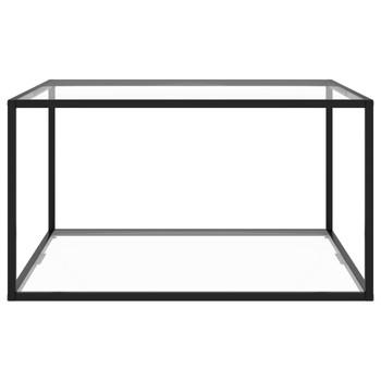 vidaXL Stolić za kavu crni s kaljenim staklom 90 x 90 x 50 cm