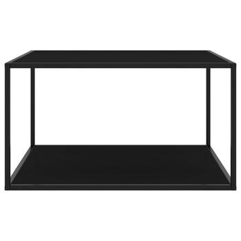 vidaXL Stolić za kavu crni s crnim staklom 90 x 90 x 50 cm
