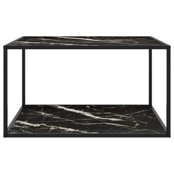 vidaXL Stolić za kavu crni s crnim mramornim staklom 90 x 90 x 50 cm