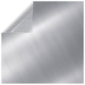 vidaXL Plutajući pravokutni PE solarni pokrov za bazen 10x5 m srebrni