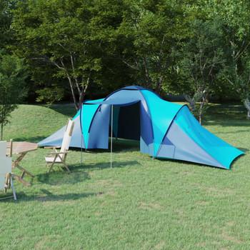 vidaXL Šator za kampiranje za 6 osoba plavi/svjetloplavi