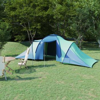 vidaXL Šator za kampiranje za 6 osoba plavo-zeleni