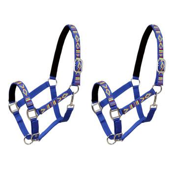 vidaXL Konjske uzde 2 kom veličina za ždrijebe najlonske plave