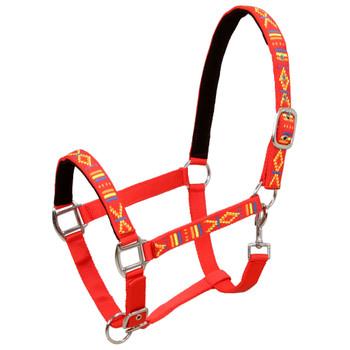 vidaXL Konjske uzde 2 kom veličina za ponija najlonske crvene