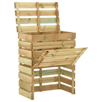 vidaXL Rešetkasti vrtni komposteri 2 kom 80 x 50 x 100 cm od borovine