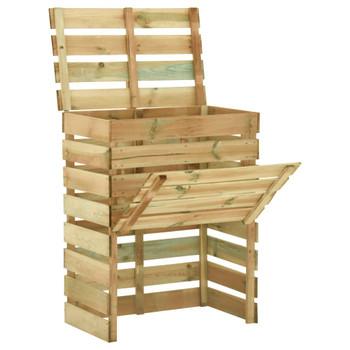 vidaXL Rešetkasti vrtni komposteri 4 kom 80 x 50 x 100 cm od borovine