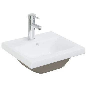 vidaXL Ugradbeni umivaonik sa slavinom 42x39x18 cm keramički bijeli