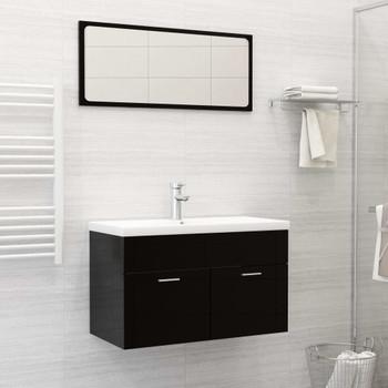 vidaXL Ugradbeni umivaonik sa slavinom 81x39x18 cm keramički bijeli