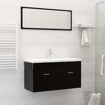 vidaXL Ugradbeni umivaonik sa slavinom 91x39x18 cm keramički bijeli