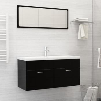 vidaXL Ugradbeni umivaonik sa slavinom 101x39x18 cm keramički bijeli