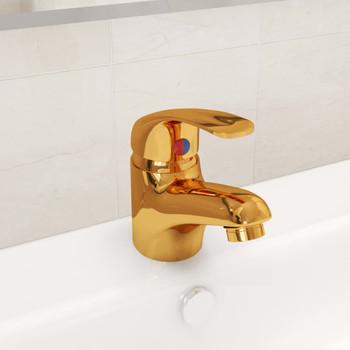 vidaXL Miješalica za umivaonik zlatna 13 x 10 cm