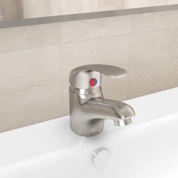 vidaXL Miješalica za umivaonik boja nikla 13 x 10 cm
