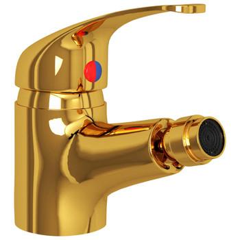 vidaXL Kupaonska miješalica za bide zlatna 13 x 12 cm