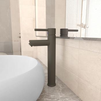 vidaXL Kupaonska miješalica siva 12 x 30 cm
