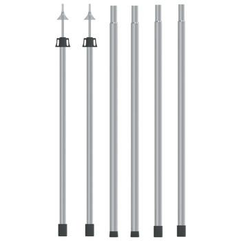 vidaXL Teleskopske šipke za ceradu duljine 102 – 260 cm 2 kom aluminij