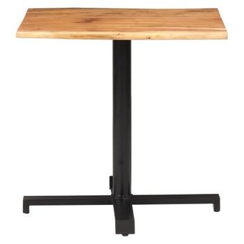 vidaXL Bistro stol sa živim rubovima 80x80x75 cm masivno drvo bagrema