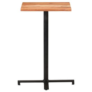 vidaXL Barski stol sa živim rubovima 50x50x110 cm masivno drvo bagrema
