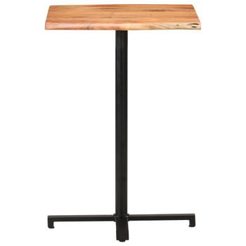 vidaXL Barski stol sa živim rubovima 60x60x110 cm masivno drvo bagrema