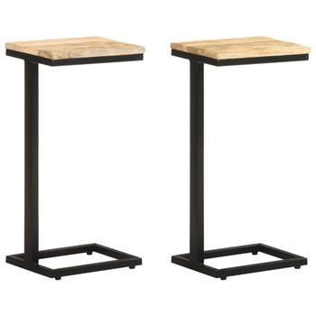 vidaXL Bočni stolići 2 kom 31,5 x 24,5 x 64,5 cm od grubog drva manga