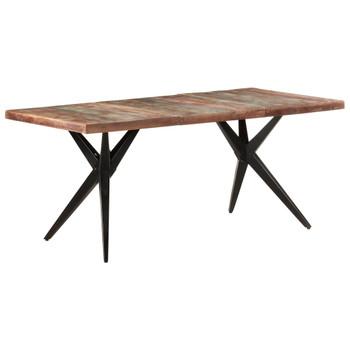vidaXL Blagovaonski stol 180 x 90 x 76 cm masivno obnovljeno drvo