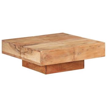 vidaXL Stolić za kavu 80 x 80 x 28 cm od masivnog bagremovog drva