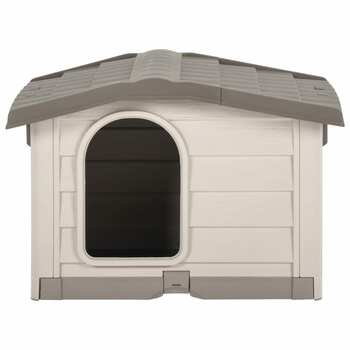 vidaXL Kućica za pse bež i smeđa 89 x 75 x 62 cm